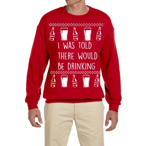 Ugly Christmas Sweater Beer Shirt Drinking Unisex Funny Etsy