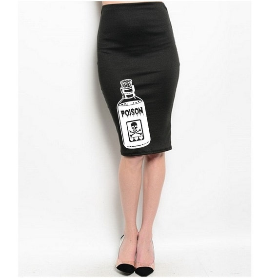 hot sale on feet images of uk cheap sale Plus Size Skirt Women's Clothing Poison Pencil Skirts Retro Cute Halloween  Skull Clothing Pin Up Girl Black Dresses Occult Prints XL 2XL 3XL