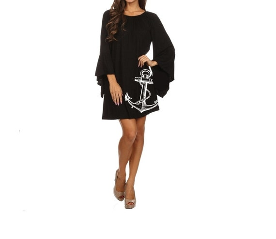 Plus Size Anchor Dress Womens Clothing Black Dress Etsy