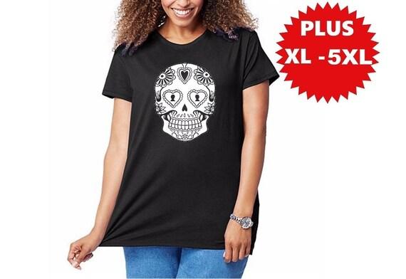 8a78cd730f1 Sugar Skull T-shirt Womens Plus Size skull shirts screen