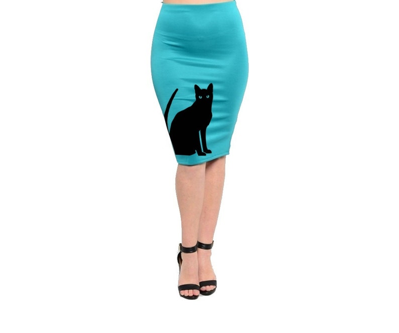 Black Cat Skirt Womens Plus Size Clothing Pin up Cute Cats  4e2b5bd920d