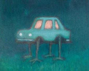 car creature original painting