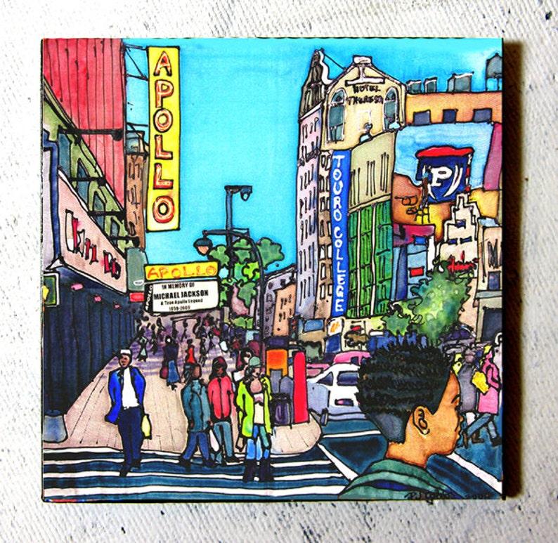 Art Coaster Apollo Girl Harlem by PJ Cobbs New York image 0
