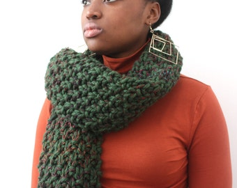 Big green wool scarf, Green Oversized Winter scarf, Gift for Girlfriend