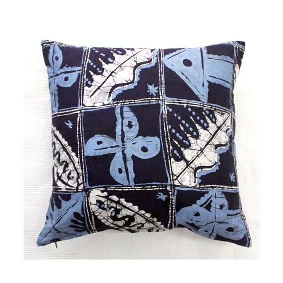 Blue Cushions African Print Throw Pillows Interiors Soft Etsy
