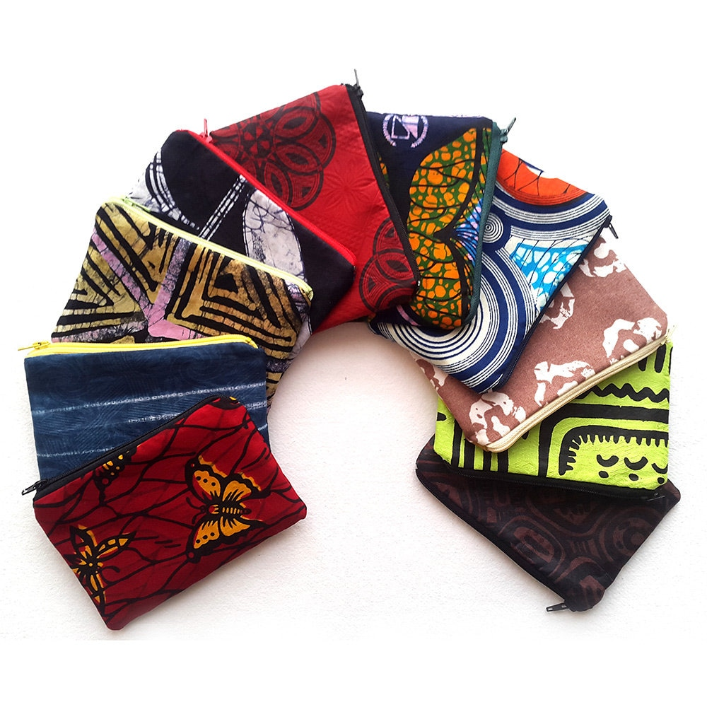 Nigerian Wedding Gifts: Zipper Pouch Set African Wedding Favours Afrocentric Gift