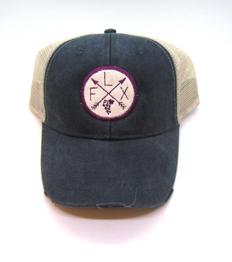 ed4d9591 Finger Lakes Hat Black Distressed Snapback Trucker Hat New   Etsy