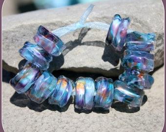 Manitou Blue lampwork bead set