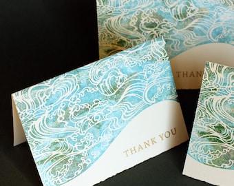 Waves of Gratitude notecards, set of four