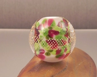 Ginnovations lampwork, Sweet Pea focal bead