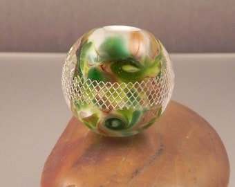 Ginnovations lampwork, Meadowlands focal bead