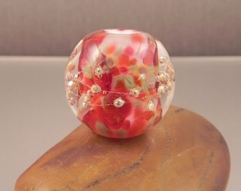 Ginnovations lampwork, Chili Peppers focal bead