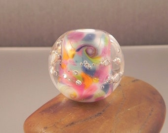 Ginnovations lampwork, Perfectly Pastel focal bead