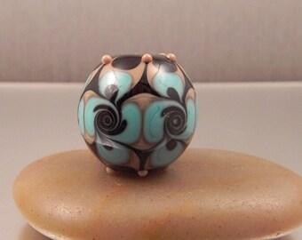 Ginnovations lampwork, Texas Pinwheel focal bead