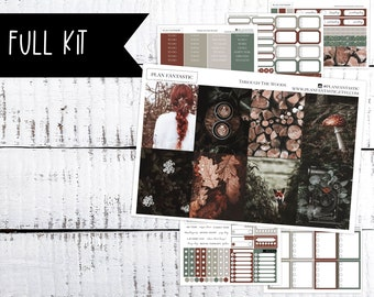 October Weekly Sticker Kit, Through the Woods Fall Planner Stickers, September Weekly Kit for use in Erin Condren Life Planner™