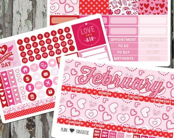February Monthly Planner Sticker Kit - for use with ERIN CONDREN LIFEPLANNER™