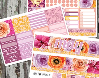 May Planner Sticker Kit - Monthly Stickers for use with ERIN CONDREN LIFEPLANNER™