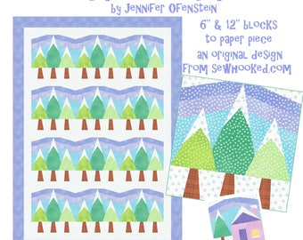 Frosted Firs, A Quilt to Paper Piece +Bonus Block