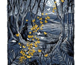 Night of the Moths - Mini Art Print