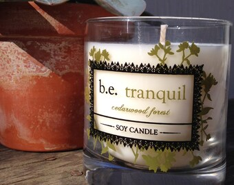 Cedarwood Forest, Soy Candle, Rustic, Masculine Scent, Handcrafted, Vegan Candle