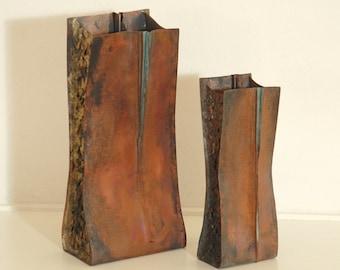 Plunkett Fold Vase - Foldformed Copper