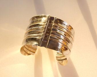 Silver Spine Bracelet - foldformed Argentium sterling bracelet