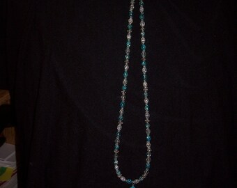 Aqua Seamist Turquoise Cross Necklace