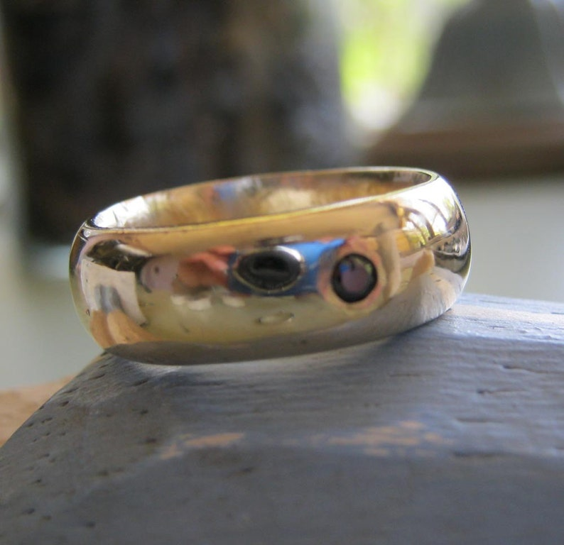 Wax cast ring 14k wide gold wedding band with diamond Deposit