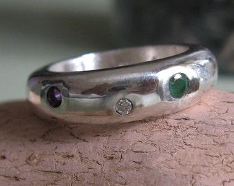 Silver Regard Ring Handmade cast -Victorian Valentine