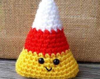 Crochet Candy Corn Amigurumi