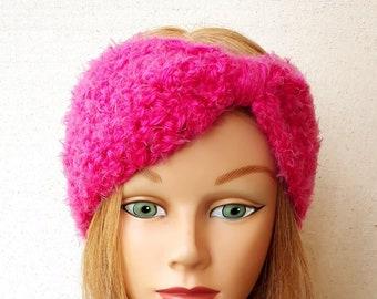 Hot Pink Ear Warmer Crochet Ear Warmer Crochet Headband Fuchsia Headband Hot Pink Crochet Fuchsia Crochet Ear Warmer Hot Pink Headband