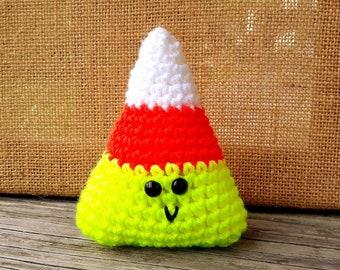 Fluorescent Crochet Candy Corn Amigurumi