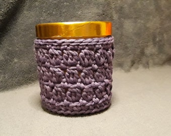 Crochet Pint Size Ice Cream Cozy in Purple