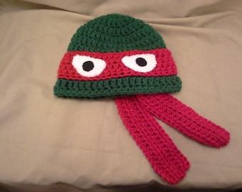 Crochet Ninja Turle Hat Infant Size