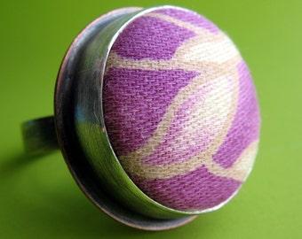 Violet Fiber Ring
