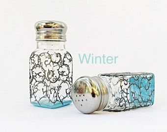 Winter salt and pepper shakers