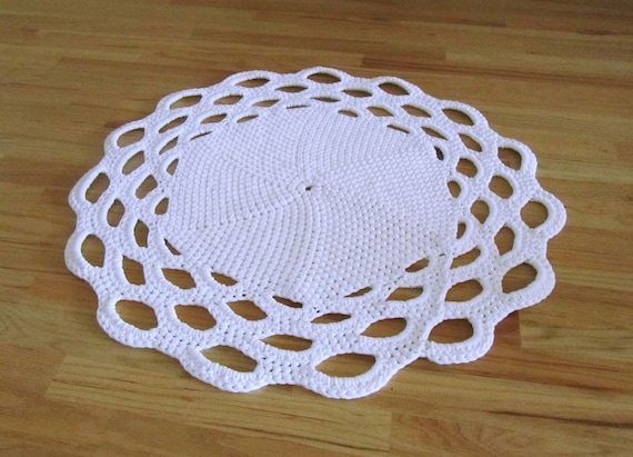 Shell Crochet Bath Mat Rug Pattern Etsy
