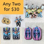 Any 2 Laser Cut Wood Earrings / Multi Purchase Discount / It's a Double / Any Two Earrings / You Choose / Take Your Pick / Thank You