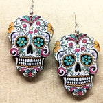 Sugar Skull Earrings / Dia de los Muertos Earrings / Halloween Earrings / Day of the Dead / Sugar Skull Accessories / Halloween Accessories