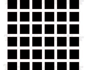 """Squares 6x6"""" Stencil"""