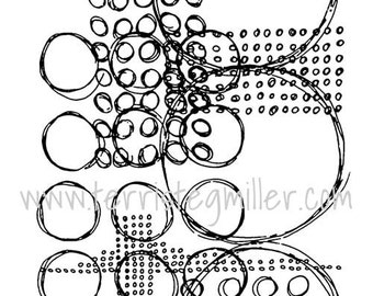 Thermofax Screen - Layered Circles