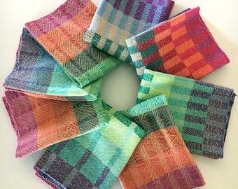 Handwoven Towels - Rainbow Towels