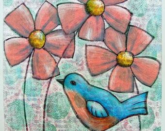 Poppin' Up Spring - Art Quilt