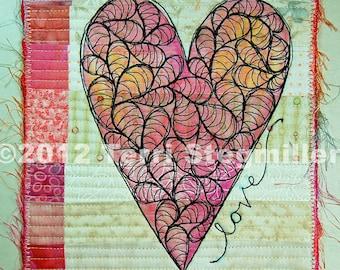 Mini Quilt - Heart 3
