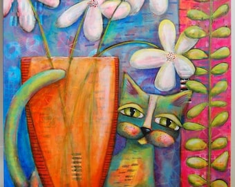 Flowers For You - Original Acrylic Painting