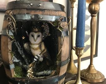 Themed Miniature Bourbon Barrel Shadowbox