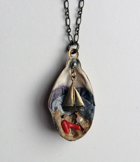 Of the Sea Diorama Pendant Necklace