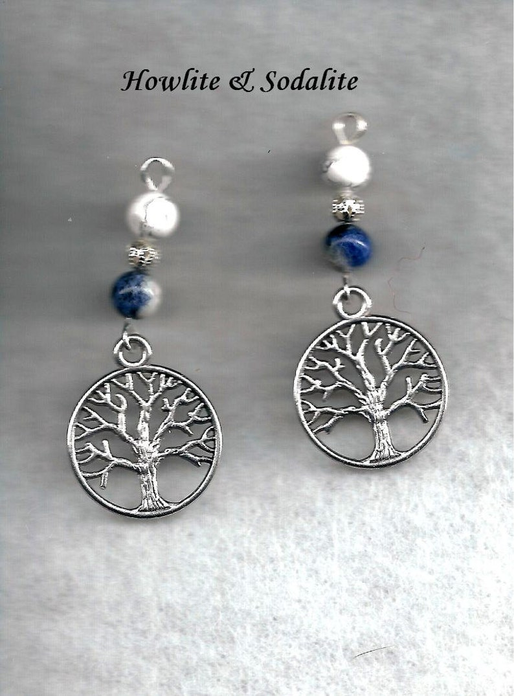 Brecciated Jasper Earrings Jasper Earrings The Tree Of Life Earrings Tree Earrings