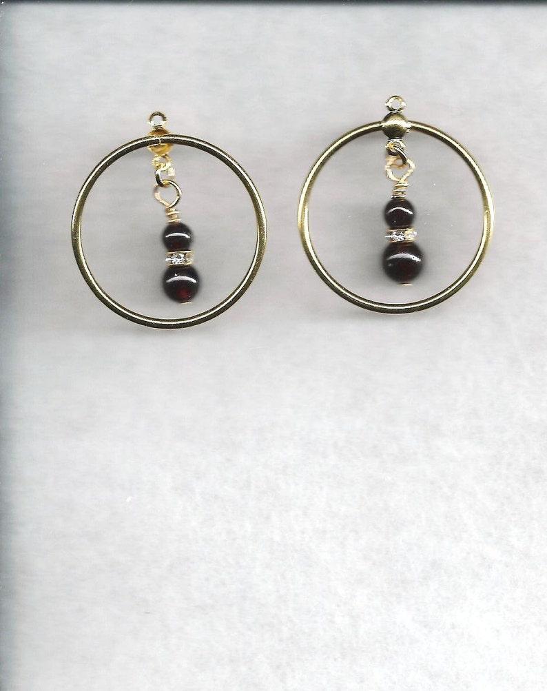 Hoop Earrings Gemstone Earrings Chandelier Earrings Garnet Earrings Coral Earrings Aventurine Earrings