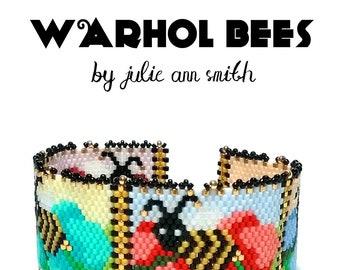 Julie Ann Smith Designs WARHOL BEES Odd Count Peyote Bracelet Pattern
